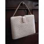 vintage 1950s nettie rosenstein ostrich handbag