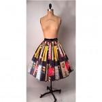 vintage 1950s novelty print skirt