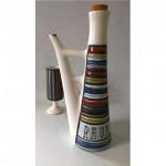 vintage 1950s roger capron rhum ceramic decanter and chalice