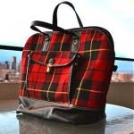 vintage 1950s swag plaid handbag