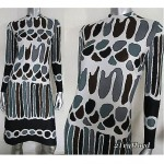 vintage 1970s bleeker street print dress