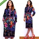 vintage 1970s leonard silk dress