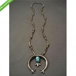 vintage 1970s navajo sterling silver naja necklace