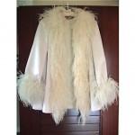 vintage 1980s geoffrey beene silk and ostrich feather evening jacket
