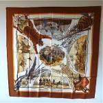 vintage 1980s hermes silk scarf