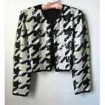 vintage 1980s sequin houndstooth jacket