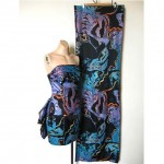 vintage 1980s studibaker hawk dress with shawl