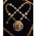 vintage 1990s versace medusa necklace