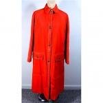 vintage bonnie cashin canvas raincoat with leather trim