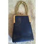 vintage bonnie cashin leather handbag