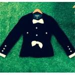vintage chanel velvet bow jacket