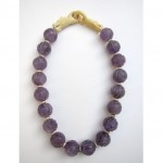 vintage chinese carved amethyst necklace with dragon clasp