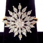 vintage diamond starburst ring