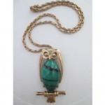 vintage eisenberg owl necklace