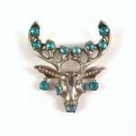 vintage eisenberg sterling rhinestone brooch