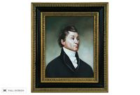 vintage english country gentleman oil portrait