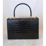 vintage french crocodile handbag