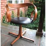 vintage george mulhauser plycraft swivel desk chair