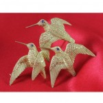 vintage hermes hummingbird brooch