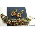 vintage hobe bracelet and earrings set