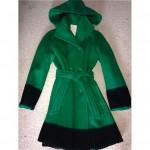 vintage hudsons bay wool blanket coat with detachable hood