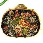 vintage jolles original austrian petit point embroidered silk purse