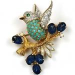 vintage jomaz brooch
