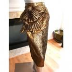 vintage metallic lame origami cocktail skirt