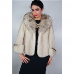 vintage mink and fox fur cape