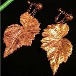 vintage miriam haskell leaf earrings