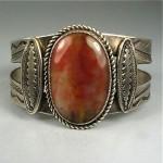 vintage navajo petrified wood bracelet