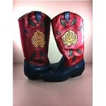 vintage nine west leather inlay cowboy boots