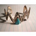 vintage turquoise sterling bracelet