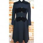 vintage wwii wool velvet coat