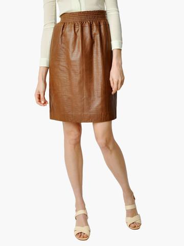 vintage 1980s jean muir leather skirt