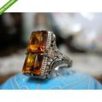antique 14k critrine ring