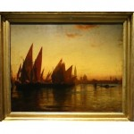 antique 19th century oil painting attributed to david roberts