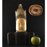 antique chinese huge hand carved buddha