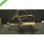 antique goat lock with key