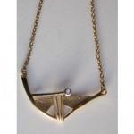 vintage 14k diamond teka modernist necklace