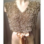vintage 1920s 1930s silk sequin beaded blouse top
