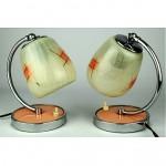 vintage 1950s bedside lamps