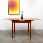 vintage 1950s danish modern teak expanding square dining table