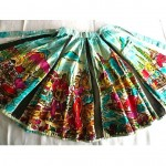 vintage 1950s mexican handpainted circle skirt