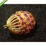vintage 1950s rubies pendant