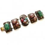 vintage 1950s selro lucite confetti bracelet