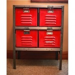 vintage 1950s worley metal locker cabinet