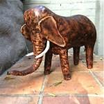 vintage 1960s omersa leather elephant foot stool