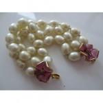 vintage 1996 chanel pearl camellia bracelet