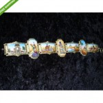 vintage art deco egyptian revival enamel bracelet